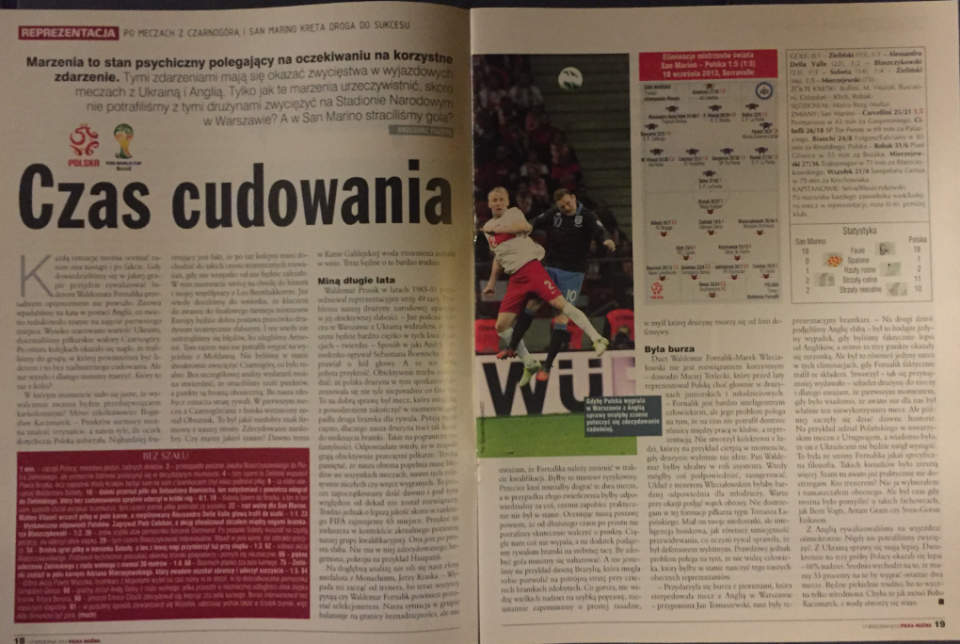 piłka nożna po meczu san marino - polska (10.09.2013)
