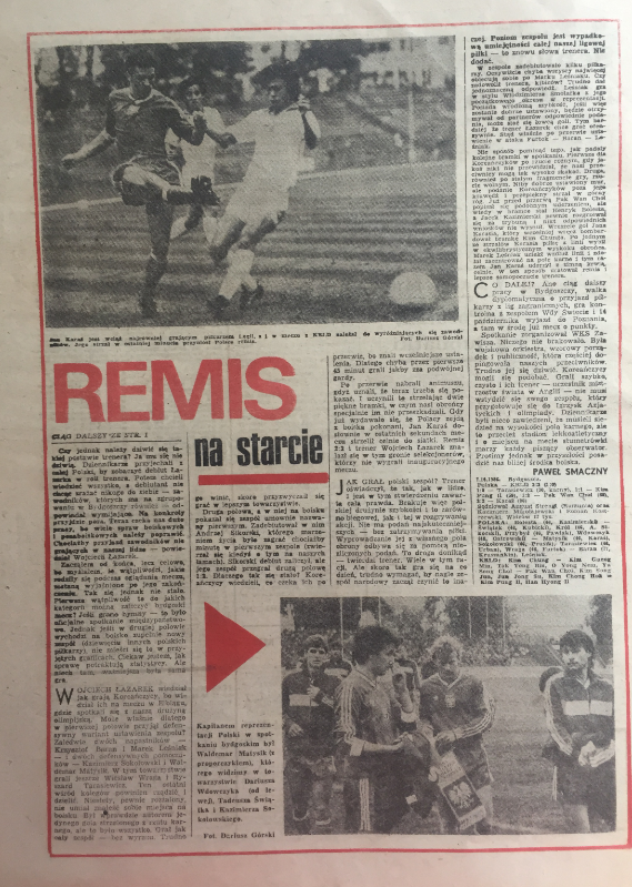 piłka nożna po meczu polska – krld (07.10.1986)