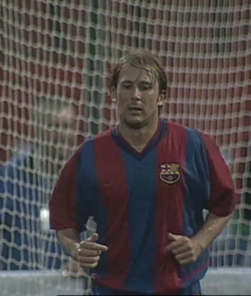 Gaizka Mendieta (Legia Warszawa – FC Barcelona 0:1, 28.08.2002)