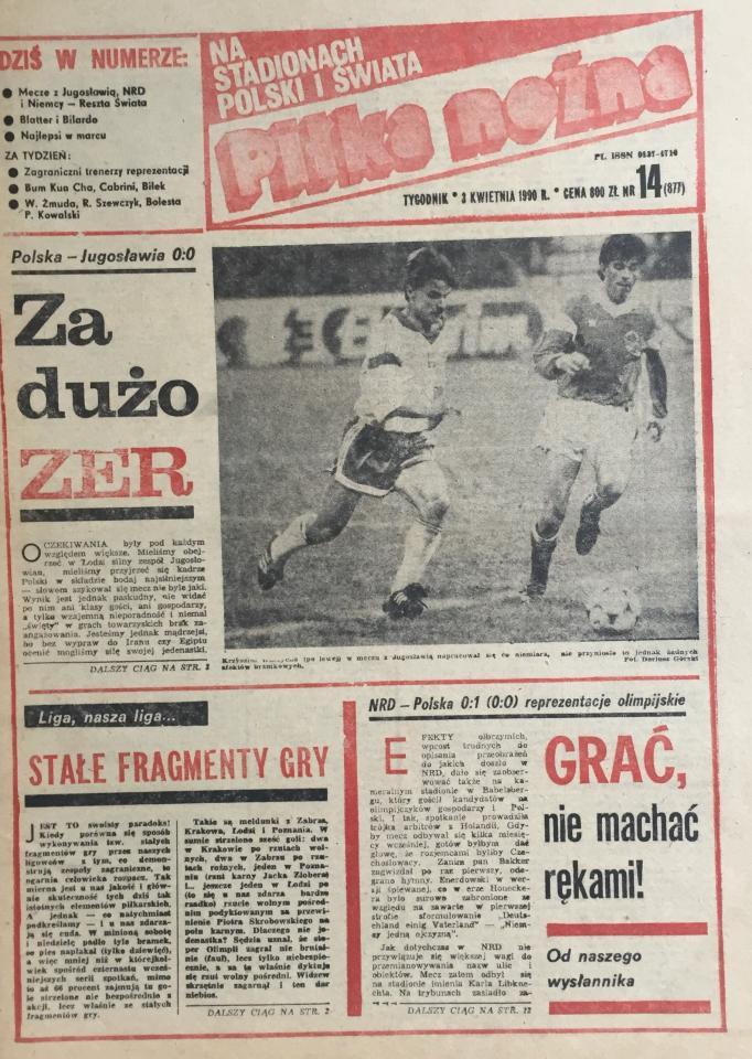 Piłka Nożna po NRD - Polska 0:1 (28.03.1990) 1
