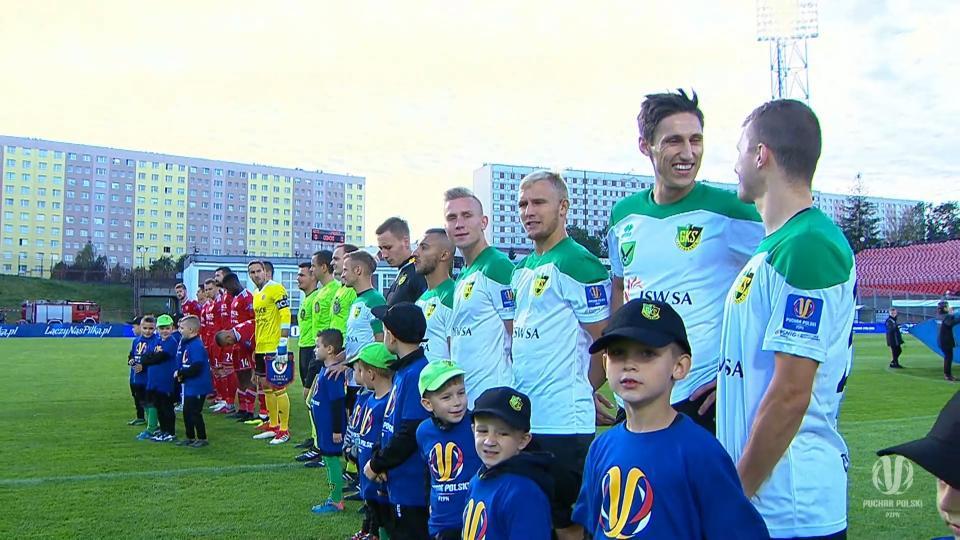 Drużyny Piasta Gliwice i GKS-u Jastrzębie przed meczem I rundy Pucharu Polski w sezonie 2018/2019.