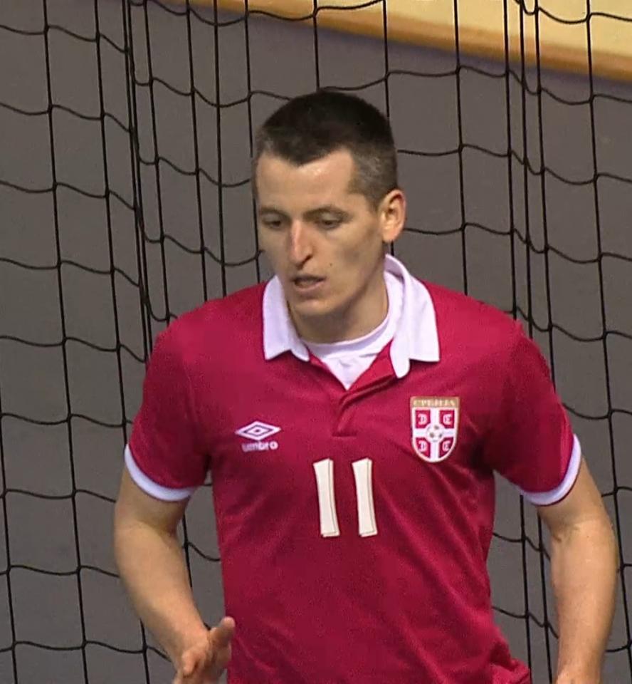 Miloš Simić (Polska - Serbia 0:4 futsal, 08.04.2017).