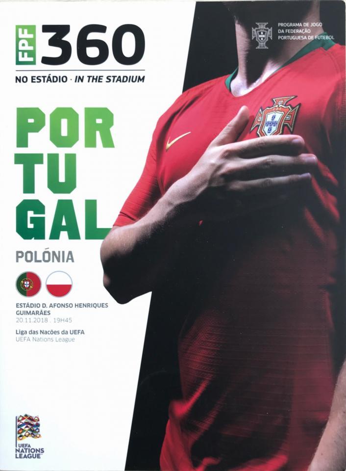 Program meczowy Portugalia - Polska 1:1 (20.11.2018)