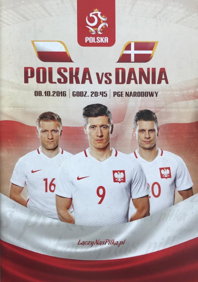 Program meczowy Polska - Dania 3:2 (08.10.2016)