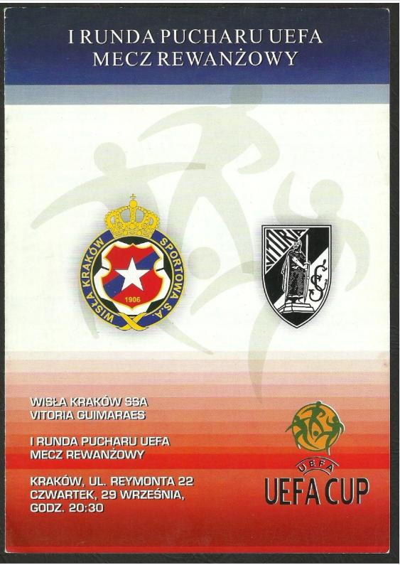 program z meczu wisła kraków - vitoria guimaraes (29.09.2005)