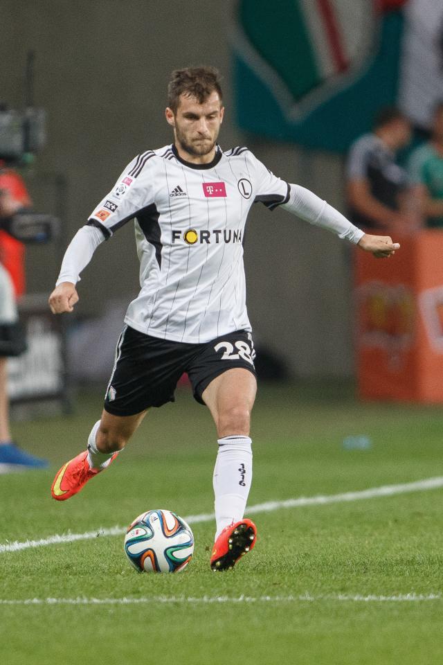 Łukasz Broź (do meczu Legia Warszawa - Pogoń Szczecin 3:1, 30.10.2014).