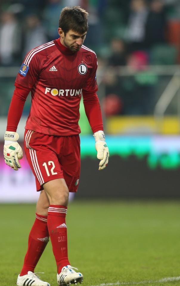 Dušan Kuciak (Legia Warszawa - Śląsk Wrocław 1:1, 05.03.2015).