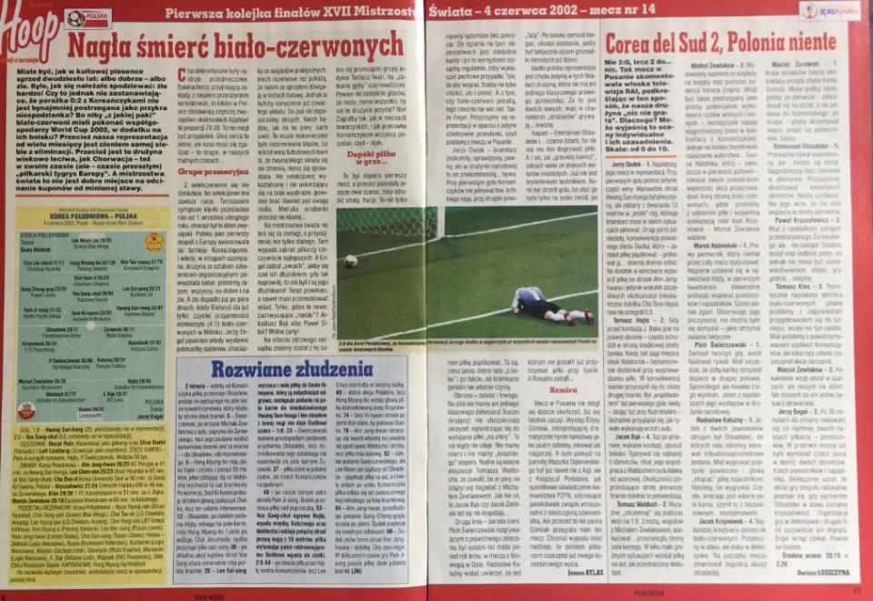 piłka nożna po meczu korea płd. - polska (04.06.2002)