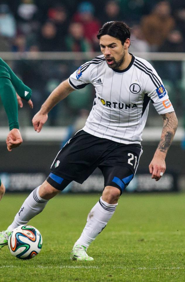 Ivica Vrdoljak (Śląsk Wrocław - Legia Warszawa 1:1, 12.02.2015).