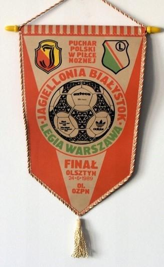 Proporczyk Legia Warszawa - Jagiellonia Białystok 5:2 (24.06.1989).