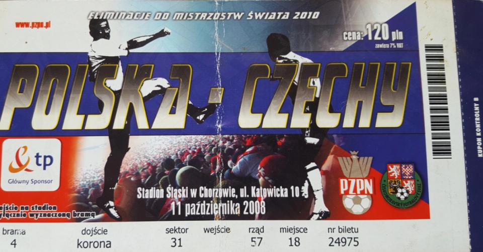 bilet z meczu polska - czechy (11.10.2008)