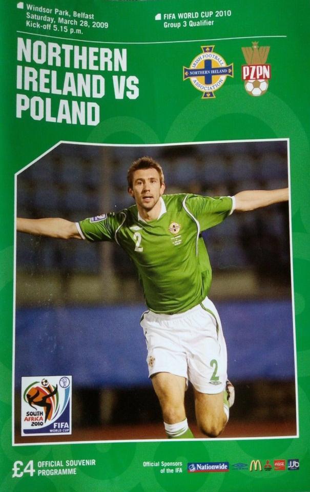 Program meczowy Irlandia Płn. - Polska 3:2 (28.03.2009).