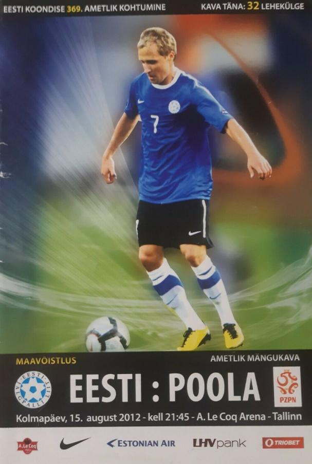 program meczowy estonia - polska (15.08.2012)