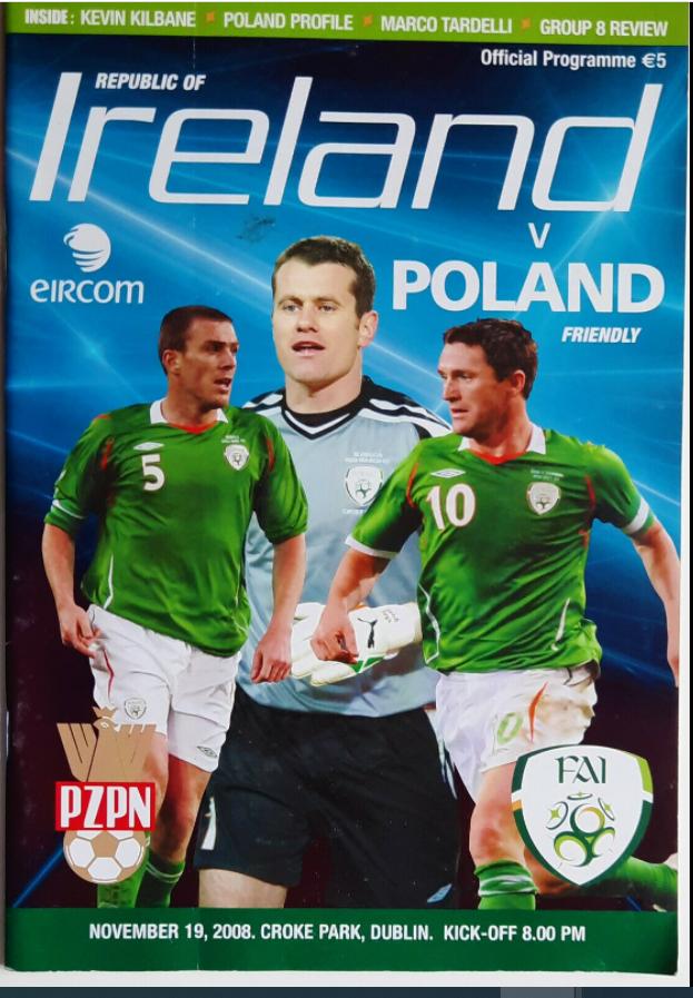 Program meczowy Irlandia - Polska (18.11.2008)
