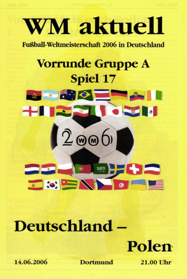 program meczowy niemcy - polska (14.06.2006)