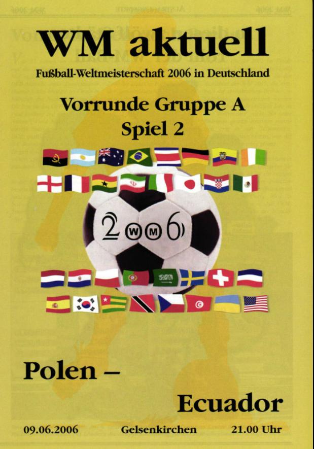 program meczowy polska - ekwador (09.06.2002)