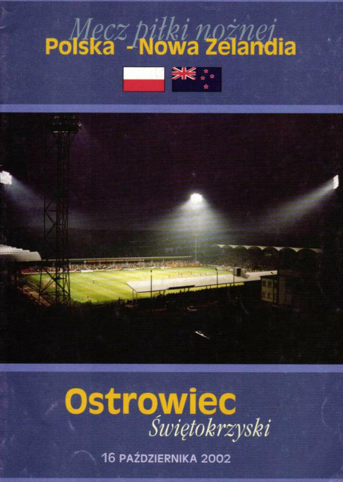 program meczowy polska - nowa zelandia (16.10.2002)