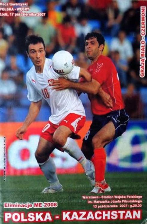 Program z meczu polska - kazachstan (13.10.2007)