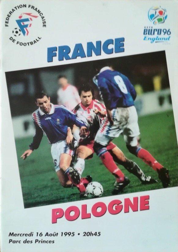 Program meczowy Francja - Polska 1:1 (16.08.1995).