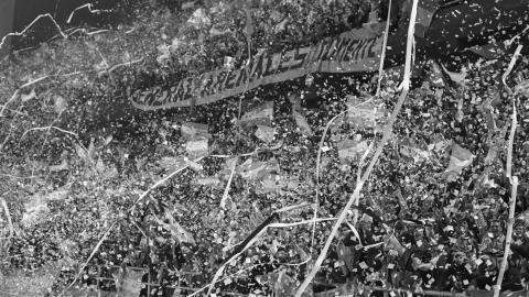 Znak firmowy argentyńskiego mundialu - serpentyny i kolorowe confetti.