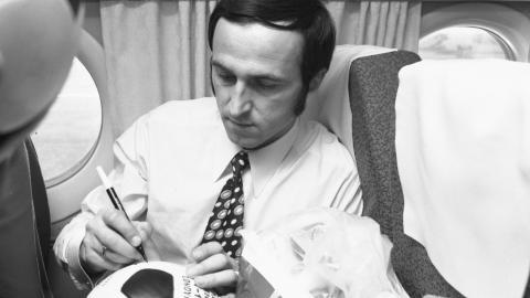 Jan Domarski po meczu na Wembley (17.10.1973)