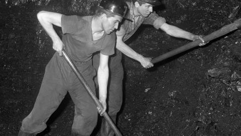 Bracia Wilimowie pracujący w kopalni Szombierki - historia jednego zdjęcia