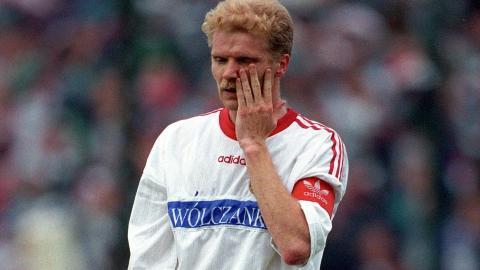 Tomasz Łapiński w barwach Widzewa Łódź (1996).