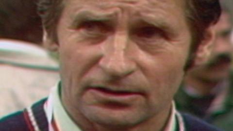 Bronisław Waligóra po meczu Widzew Łódź - GKS Katowice 0:0, k. 3:1 (26.06.1985).