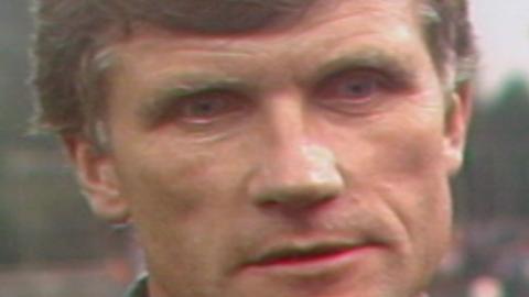 Zbigniew Podedworny po meczu Widzew Łódź - GKS Katowice 0:0, k. 3:1 (26.06.1985).