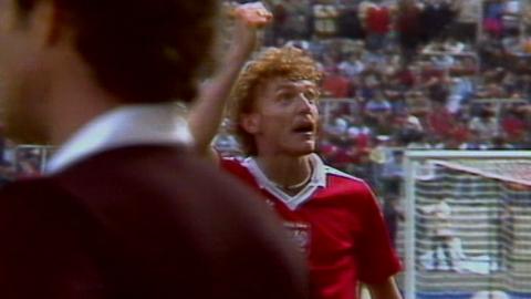 zbigniew boniek w meczu z Peru (22.06.1982)