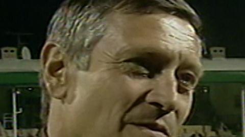 Dušan Radolský podczas meczu Groclin Dyskobolia Grodzisk Wlkp. - Atlantas Kłajpeda 2:0 (14.08.2003).