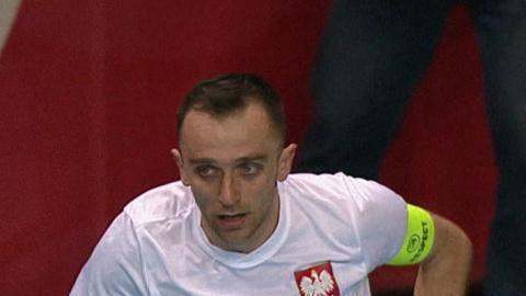 Hiszpania - Polska 1:1 (11.04.2017) futsal Marcin Mikołajewicz