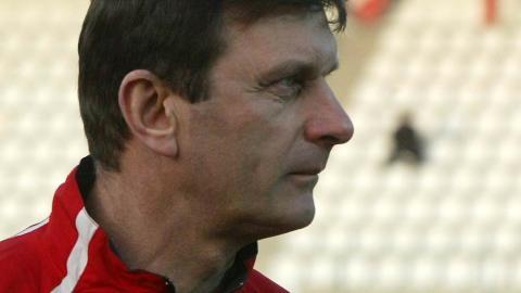 Trener reprezentacji Polski do lat 21 Władysław Żmuda, 2005 rok.