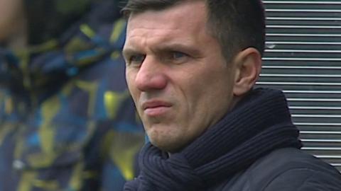Błękitni Stargard Szczeciński - Cracovia 2:0 (04.03.2015) Robert Podoliński